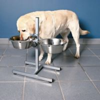 Trixie Pet Products™ 19.5-Inch Dog Bowls with Adjustable Height Stand