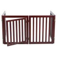 Trixie Pet Products 24-Inch 4-Panel Freestanding Configurable Pet Gate in Brown