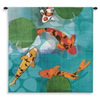 Pure Country Lucky Koi 31-Inch x 31-Inch Tapestry