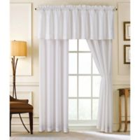 Lebesque 84-Inch Rod Pocket Window Curtain Panel Pair in White