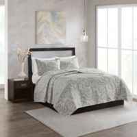 N Natori® Kira Reversible Full/Queen Coverlet Set in Grey