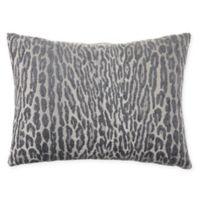 Leopard Jacquard Oblong Throw Pillow in Slate