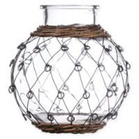 8-Inch Wire-Wrapped Glass Bottle