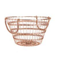 Mind Reader Round Metal Storage Basket