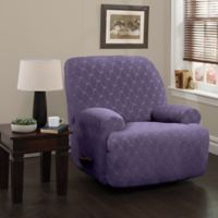 Stretch Sensations 4-Piece Stretch Ogee Large Recliner Slipcover in Grape
