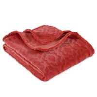 Berkshire Blanket® Greco Embossed VelvetLoft Throw Blanket in Orange
