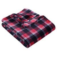 Berkshire Blanket® Plaid Velvetloft Throw Blanket in Red