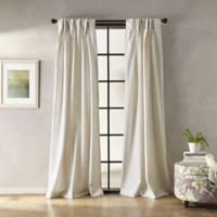 Botanical Solid 95-Inch Pinch Pleat Window Curtain Panel in Natural