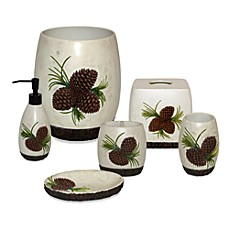 Pine Cone Branch Bath Accessories Set