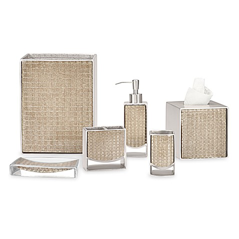 Glow DKNY Dazzle Grid Champagne Boutique Tissue Holder