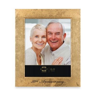 prinz happily ever after 50th gold anniversary 5 inch x 7 inch wood frame