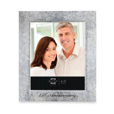 prinz happily ever after 25th silver anniversary wood frame 5 inch x 7