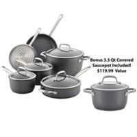 Anolon® Accolade Precision Forge™ Hard Anodized 10-Piece Cookware Set plus GWP in Moonstone