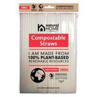 Natural Home Brands& reg; Compostable Straws in Frost (Pack of 100)
