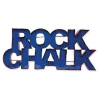 """University of Kansas """"Rock Chalk"""" Recycled Metal Wall Décor in Blue/White"""
