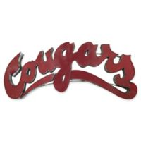 "Washington State University ""Cougars"" Recycled Metal Wall Décor in Red/Grey"