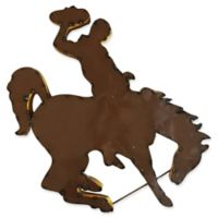 University of Wyoming Recycled Metal Wall Décor in Brown/Gold