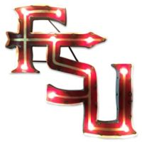 Florida State University Illuminated Recycled Metal Wall Décor in Garnet/Gold