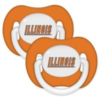 University of Illinois 2-Pack Hole Shield Logo Pacifiers