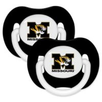 University of Missouri 2-Pack Hole Shield Logo Pacifiers