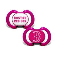 MLB Boston Red Sox 2-Pack Team Logo Pacifiers in Pink