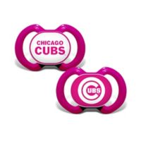 MLB Chicago Cubs 2-Pack Team Logo Pacifiers in Pink