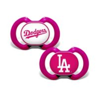 MLB Los Angeles Dodgers 2-Pack Team Logo Pacifiers in Pink