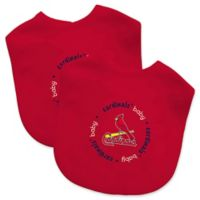 Baby Fanatic® MLB St. Louis Cardinals 2-Pack White Bibs
