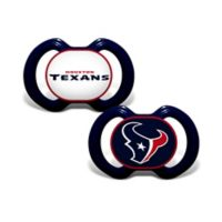 NFL Houston Texans 2-Pack Team Logo Pacifiers