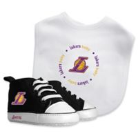 Baby Fanatic® NBA Los Angeles Lakers 2-Piece Bib and Prewalker Gift Set