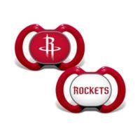 Baby Fanatic® NBA Houston Rockets 2-Pack Pacifiers