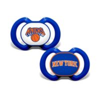 Baby Fanatic® NBA New York Knicks 2-Pack Pacifiers