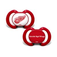 Baby Fanatic® NHL Detroite Red Wings 2-Pack Pacifiers