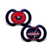 Baby Fanatic® NHL Washington Capitals 2-Pack Pacifiers