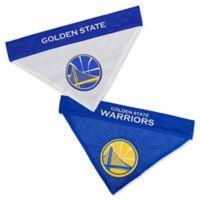 NBA Golden State Warriors Small/Medium Reversible Dog Bandana