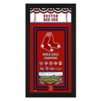 MLB Boston Red Sox 2018 World Series Champions Mini Banner with Frame