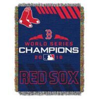 MLB Boston Red Sox 2018 World Series Champions Woven Tapestry Throw Blanket
