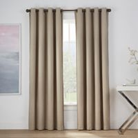 Montgomery 63-Inch Grommet Window Curtain Panel in Linen