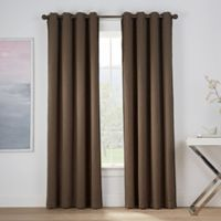 Montgomery 63-Inch Grommet Window Curtain Panel in Mocha