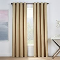 Montgomery 63-Inch Grommet Window Curtain Panel in Straw