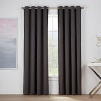 Montgomery 84-Inch Grommet Window Curtain Panel in Fog