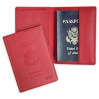 Passport Seal Embossed RFID Blocking Case in Red