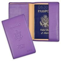 Passport Seal Embossed RFID Blocking Case in Purple