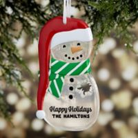 Melt Your Heart Personalized Snowman Christmas Ornament