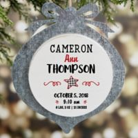 Farmhouse Baby Personalized Christmas Ornament