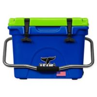 ORCA 20 Qt. Standing Cooler in Blue/Chartreuse