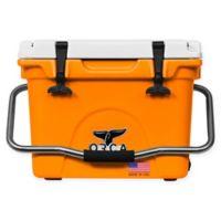 ORCA 20 Qt. Standing Cooler in Orange/White