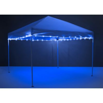 Brightz 40-Foot LED Canopy String Lights in Blue  sc 1 st  Bed Bath u0026 Beyond : lighted outdoor canopy - afamca.org