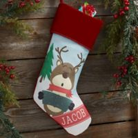 Reindeer Family Personalized Christmas Stocking