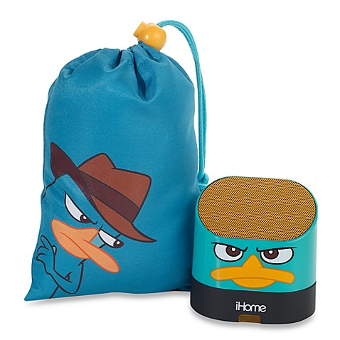iHome® Portable Rechargeable Speakers with Base in Phineas and Ferb